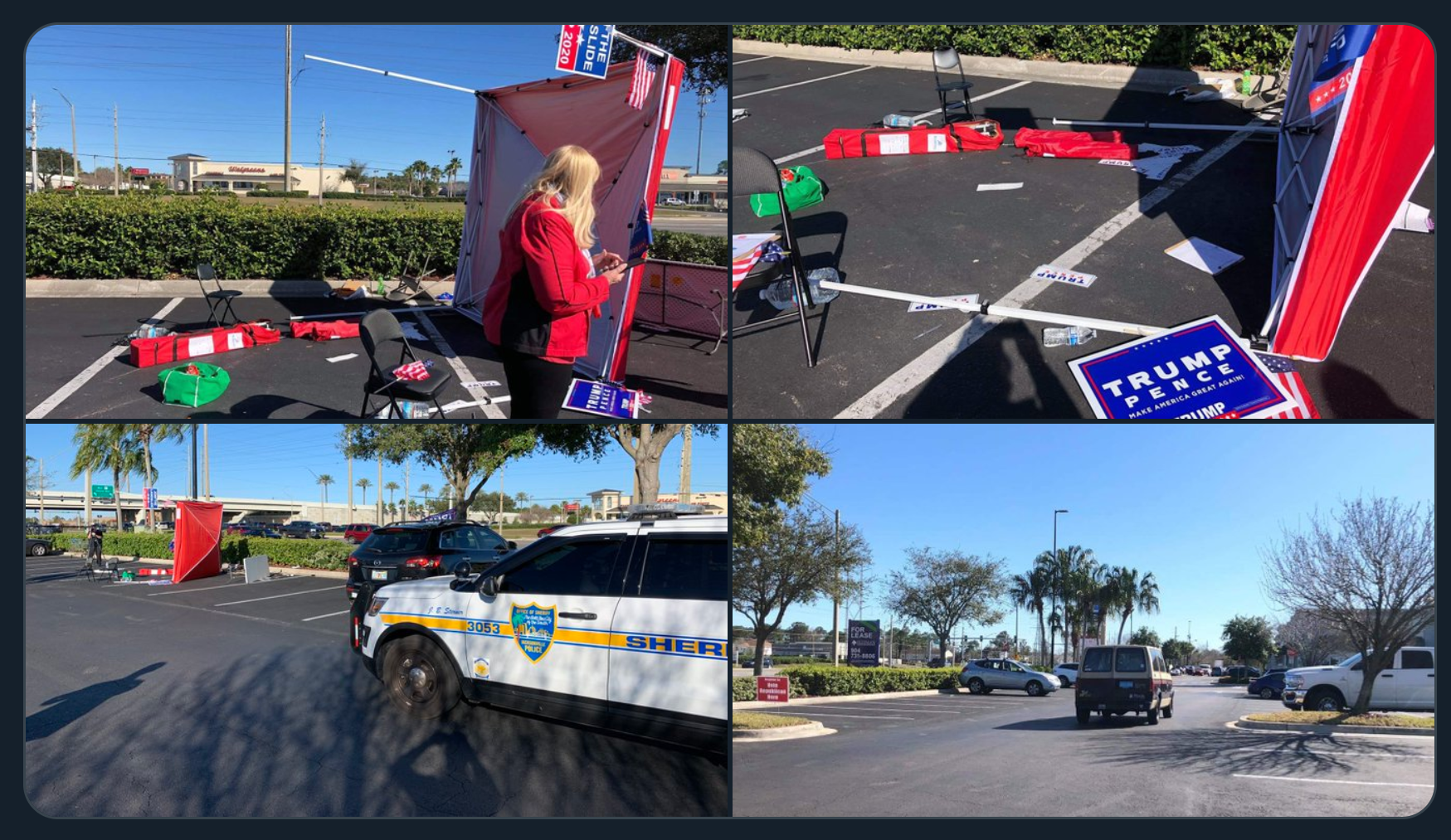 ABC, CBS Uninterested in Van Attack Against Trump Supporters Registering Voters