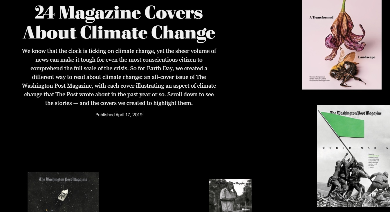 WashPost Mag: All In for Earth Day with 48 Climate Change Pages