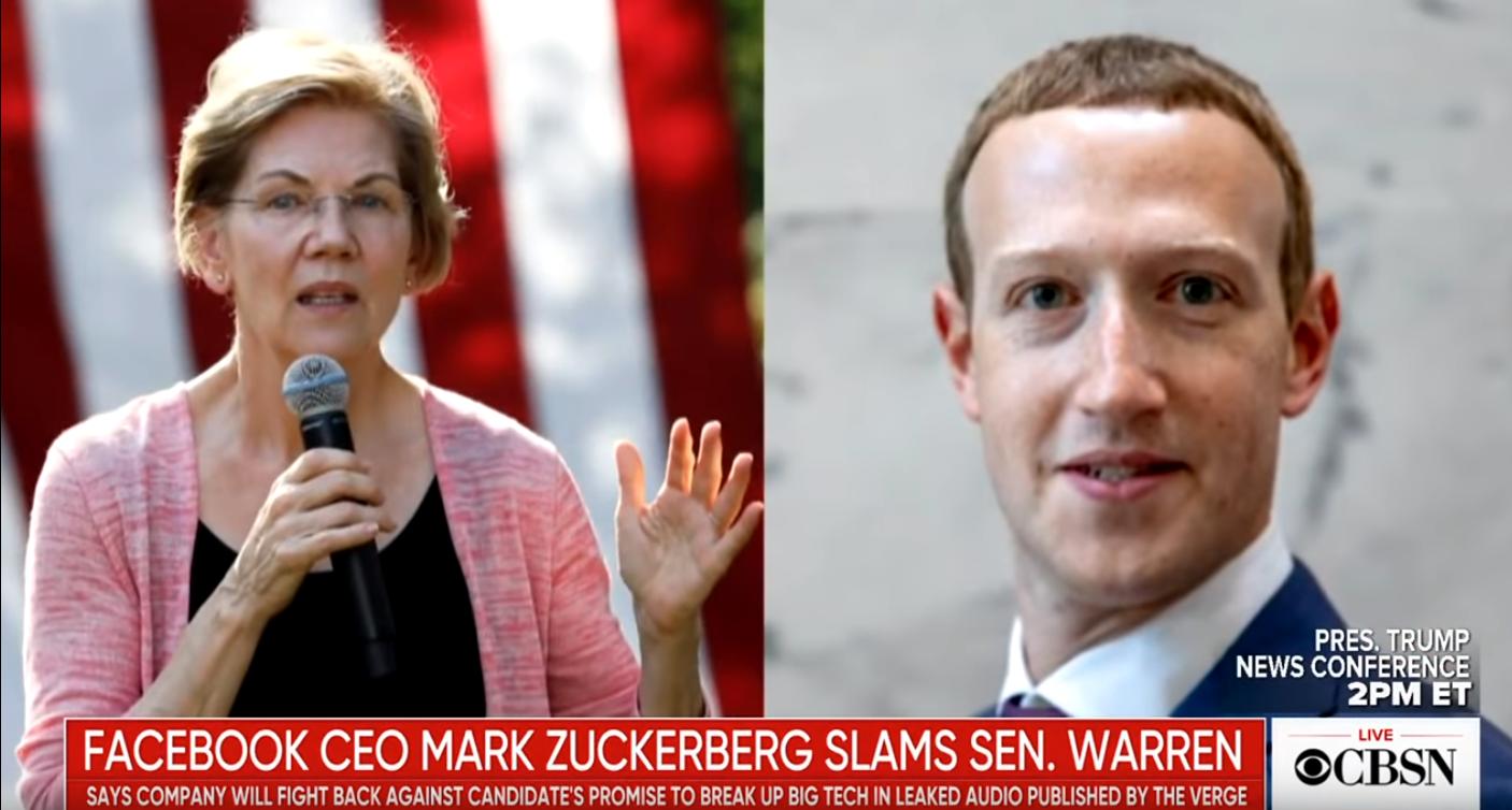 Elizabeth Warren Slams Facebook For Helping 'Elect Donald Trump'