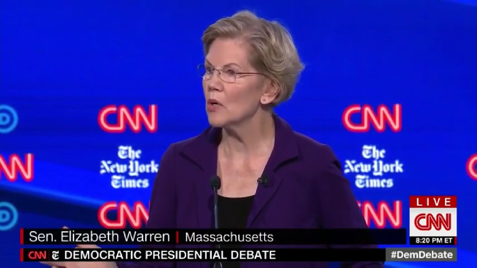 'Journalists' Upset Warren Asked About Medicare for All Taxes