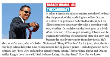Barack Obama screencapture from Men's Fitness .pdf | NewsBusters.org