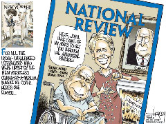 John and Cindy McCain as spoofed in a 7/15/2008 David Horsey cartoon for the Seattle P-I | NewsBusters.org