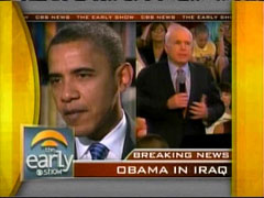 Barack Obama and John McCain, CBS