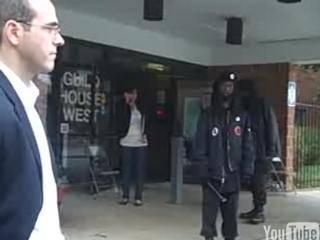 Girl cosplay black panther voter intimidation video blonde