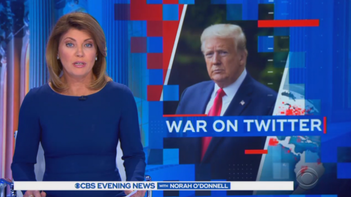 CBS, NBC Scoff at Trump's Feud with Twitter, Ignore Anti-Trump Bias of Fact-Checker