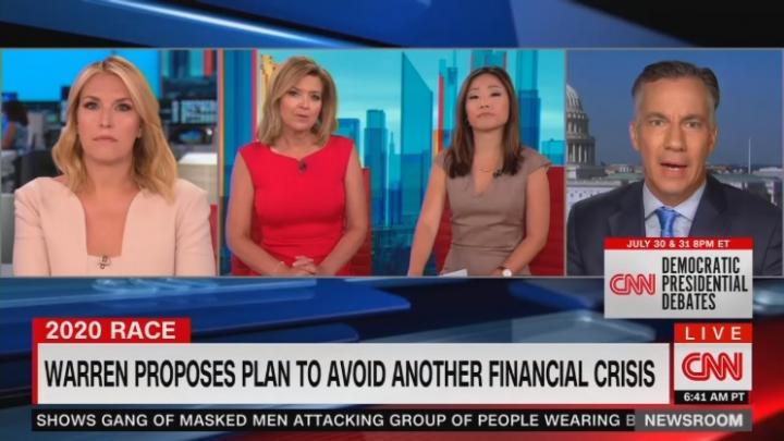 CNN Boosts Elizabeth Warren's 'Dark Prediction' of Coming Financial Crisis