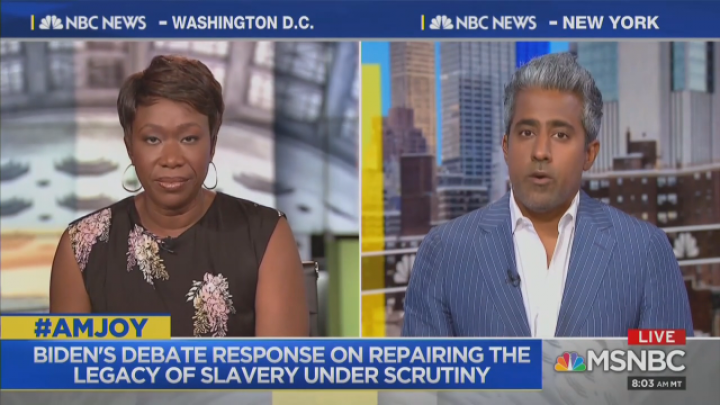MSNBC Contributor: Biden a 'Thanksgiving Uncle' Racist Who 'Has to Drop Out'