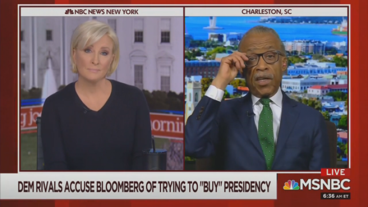 Mika: Will Bloomberg Put 'Money Where His Mouth Is' to Get 'Pass' from Al Sharpton?