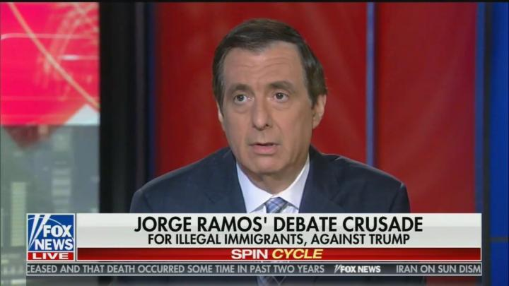 Kurtz Hammers Lefty Double Standard: Ramos Can Moderate Debate But FNC 'Too Biased'