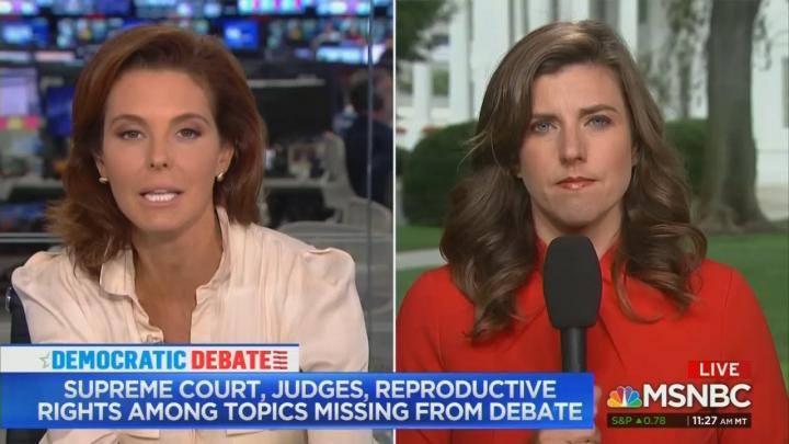 MSNBC's Ruhle Frets Not Enough Abortion Talk by Democrats