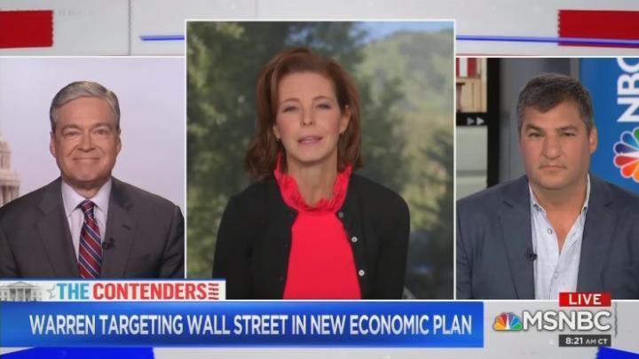 MSNBC Boosts Warren's Wall Street Attack, Ignores 'Vampires' Insult