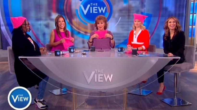 The View Ladies Wear Pussy Hats To Support Women S March