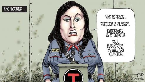 LA Times Cartoonist Mocks Sarah Sanders as 'Big Mother ...