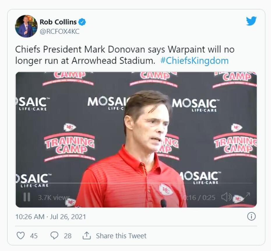 Kansas City Chiefs President Mark Donovan