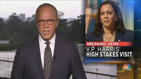 Guatemala Kamala: Holt Boasts Harris Is '1,500 Miles from the Border' |  Newsbusters