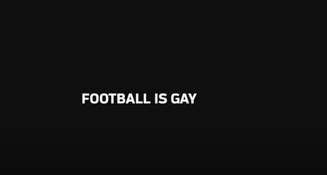 NFL video says football is gay