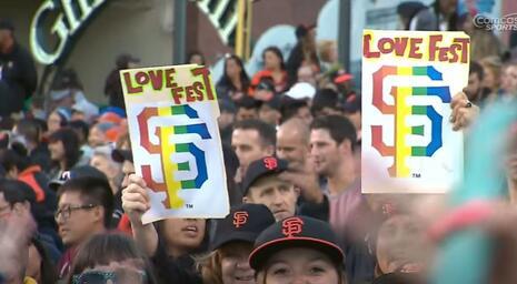 SF Giants pride night file photo