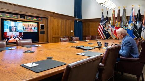 Biden Camp David video conference