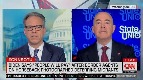 Jake Tapper Alejandro Mayorkas CNN SOTU 9-26-21