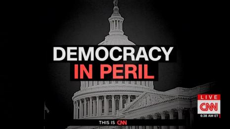 CNN screen Democracy in Peril New Day 10-13-21