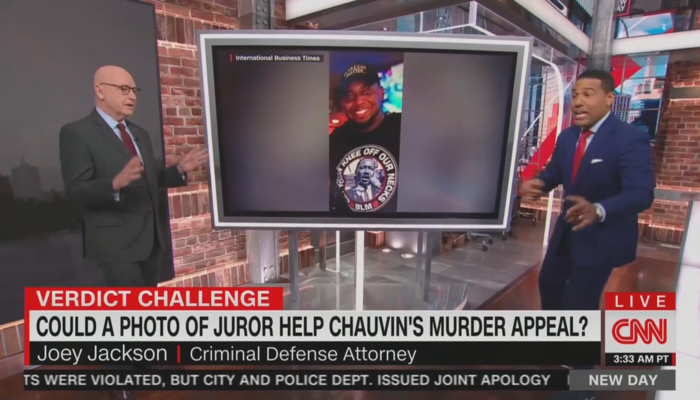 As Morning Joe Continues Blackout, CNN Hosts Debate on BLM-Backing Chauvin Juror
