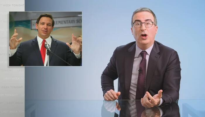 Vile John Oliver Smears DeSantis 'Vibe' That 'Screams Will Flirt With Your Teenage Friends'