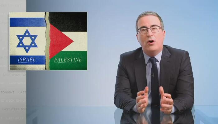John Oliver HATES Israel, Spews Vile at Country's 'Apartheid,' 'F***ing War Crimes'