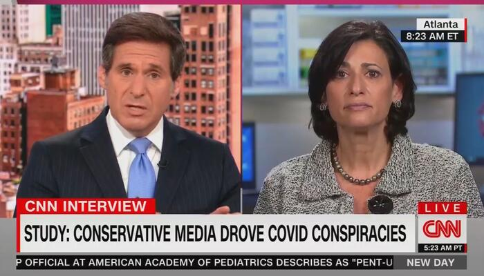 Pathetic: CNN's Berman Asks CDC Dir. to 'Blame' Conservative Media for COVID Conspiracies