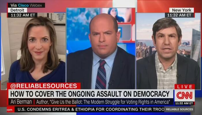 Brian Stelter: Media Need to Focus Fiercely on 'Republicans vs. Democracy'