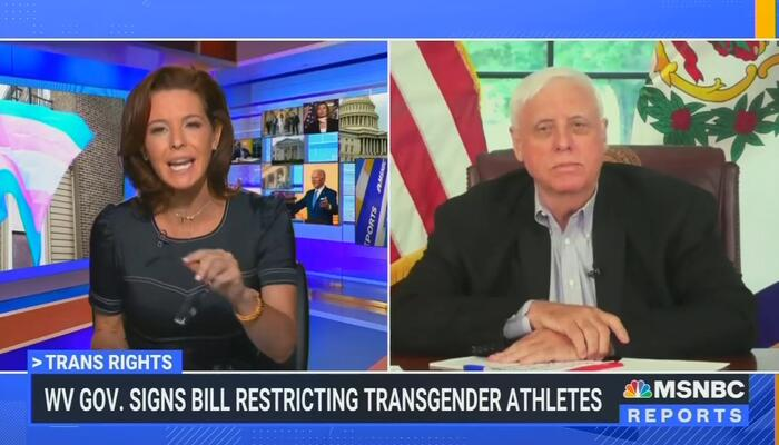 SHOUTING MSNBC Host Loses It at GOP Governor Over Trans Bill in State