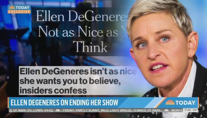 NBC Paints Toxic Ellen DeGeneres as Victim Getting 'Cancelled'