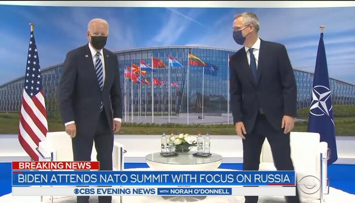 Nets Swoon for Biden: 'Cementing the Fractured' NATO Bond Trump Damaged