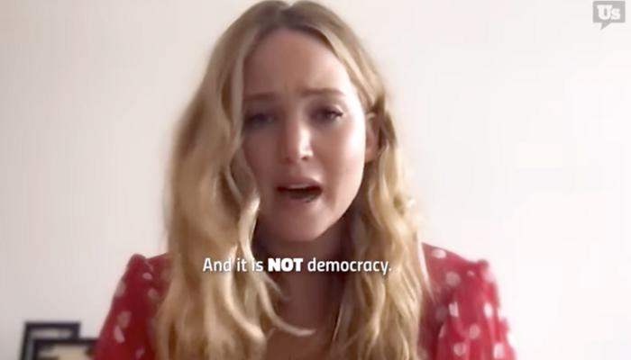 Histrionic Jennifer Lawrence: 'Radical' GOP 'Dismantling Americans' Rights to Vote'