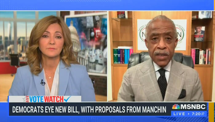 CORRUPT MSNBC Chats With Sharpton About Lobbying Dems to Rig Elections