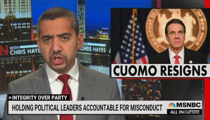 MSNBC's Hasan Cries for Cuomo: 'Sadder Day for Democracy;' Only 'Consequences' for Dems