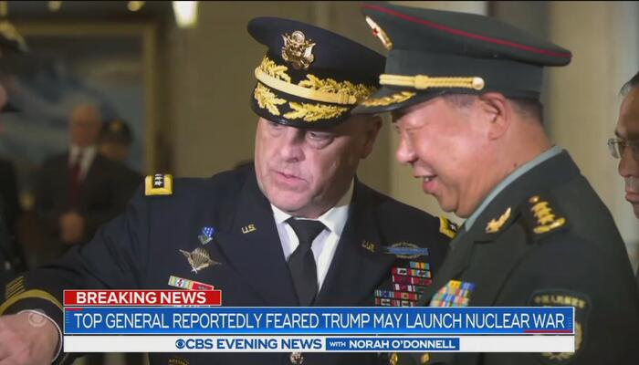 CBS, NBC Fully Back Milley's Act of TREASON, Promised to Warn China