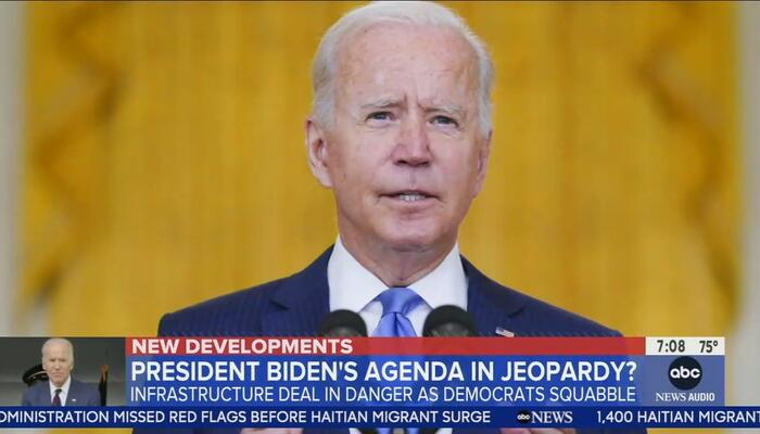 ABC, CBS PANIC Over Possible 'Collapse' of Biden's Spending Deal: 'Clock Is Ticking'