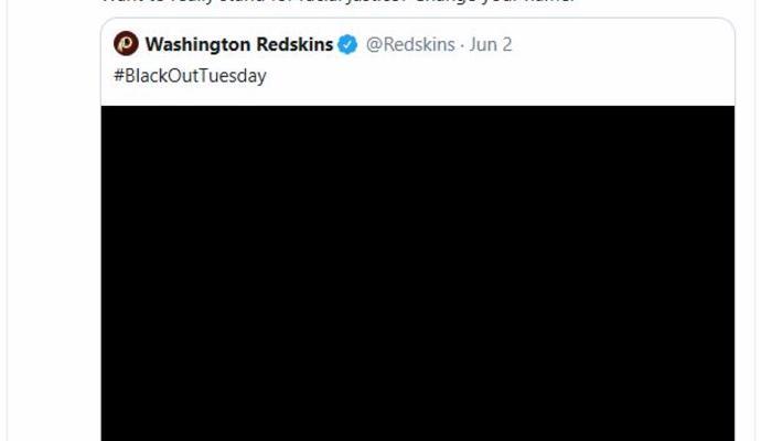 AOC Redskins tweet