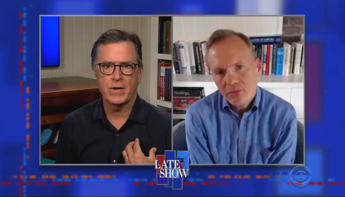 Stephen Colbert and John Dickerson