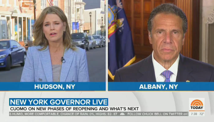 Savannah Guthrie and Andrew Cuomo