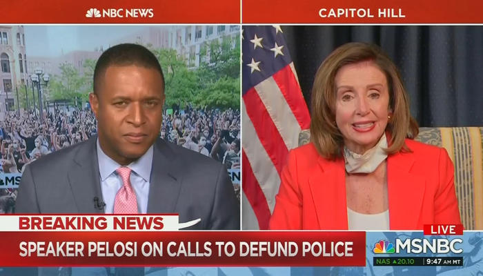 Craig Melvin and Nancy Pelosi