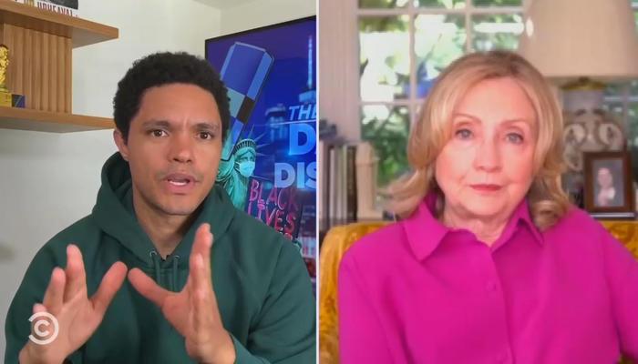 Trevor Noah and Hillary Clinton