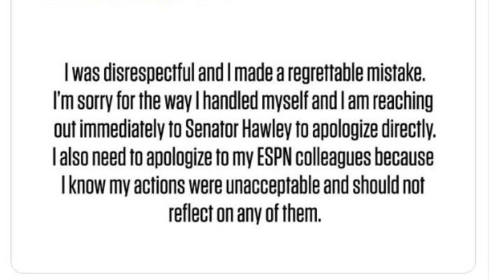 Wojnarowski apology