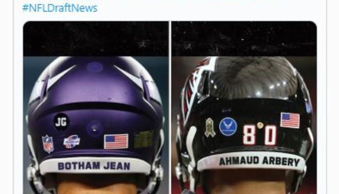 NFL helmet tweet