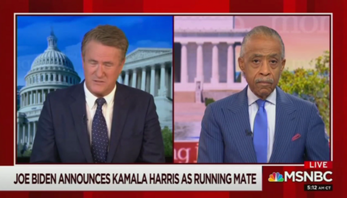 Joe Scarborough and Al Sharpton