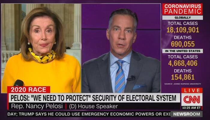 Jim Sciutto and Nancy Pelosi