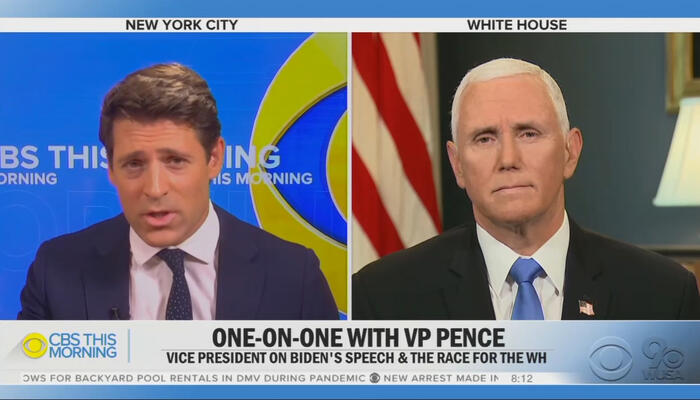 Tony Dokoupil and Mike Pence