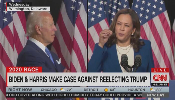 Joe Biden Kamala Harris CNN New Day 8-13-20