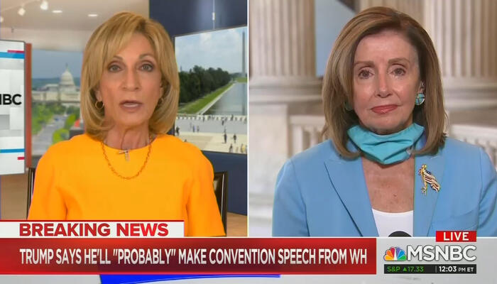 Andrea Mitchell and Nancy Pelosi