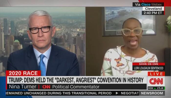 Anderson Cooper and Nina Turner